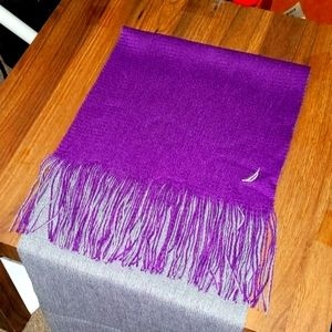 💟4.99SHIP💟🆕️Nautica Purple and Grey Reversable Scarf PERFRCT FOR FALL❤